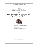Tiểu luận: Phân tích báo cáo tài chính NHTMCP Ngoại Thương Việt Nam
