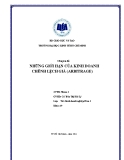 Tiểu luận: Những giới hạn của kinh doanh chênh lệch giá (Arbitrage)