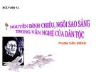 Bài giảng Ngữ văn 12 tuần 4 bài: Nguyễn Đình Chiểu, ngôi sao sáng trong Văn nghệ Dân tộc