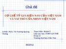 Chủ đề: Cơ chế tỷ giá hiện nay của Việt Nam và vai trò của ngân hàng nhà nước Việt Nam