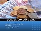 Thuyết trình: Tương lai của đồng Euro