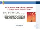 Thuyết trình: Chỉ số can thiệp và các chế độ tỷ giá hối đoái: Trường hợp của các nền kinh tế Đông Á