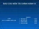 Báo cáo môn tài chính hành vi: Phân tích ảnh hưởng của phản ứng quá mức tại thị trường chứng khoán Trung Quốc