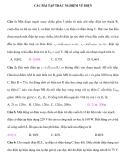 Các bài tập trắc nghiệm Vật lý 12 về điện