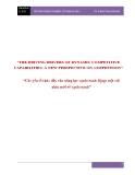 """Báo cáo: """"Các yếu tố thúc đẩy của năng lực cạnh tranh động: một cái  nhìn mới về cạnh tranh"""