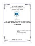 Tiểu luận: Thực hiện xây dựng và áp dụng chính sách hệ thống quản lý chất lượng ISO vào Công ty CP máy tính Viscom