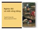 Bài giảng Nghèo đói và mất công bằng - Nguyễn Hoàng Bảo
