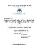 Bài nghiên cứu: Chính sách vô hiệu hóa, chính sách tiền tệ và hội nhập tài chính toàn cầu