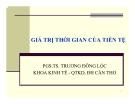 Bài giảng Tài chính doanh nghiệp: Chương 4 - PGS.TS. Trương Đông Lộc
