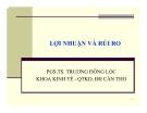 Bài giảng Tài chính doanh nghiệp: Chương 3 - PGS.TS. Trương Đông Lộc