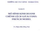 Bài giảng Đầu tư tài chính: Chương 6 - TS. Phạm Hữu Hồng Thái