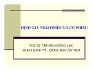 Bài giảng Tài chính doanh nghiệp: Chương 6 - PGS.TS. Trương Đông Lộc