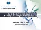 Bài giảng Tài chính quốc tế: Bài 5 - TS. Nguyễn Khắc Quốc Bảo