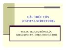 Bài giảng Tài chính doanh nghiệp: Chương 10 -  PGS.TS. Trương Đông Lộc