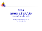 Bài giảng Quản lý dự án: Chương 1 - TS. Phùng Tấn Việt