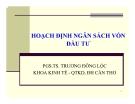 Bài giảng Tài chính doanh nghiệp: Chương 7 - PGS.TS. Trương Đông Lộc