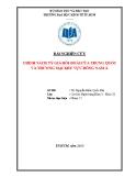 Tiểu luận: Chính sách tỷ giá hối đoái của Trung Quốc và thương mại khu vực Đông Nam Á