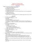 Ôn tập Sinh học 12 - Chương 1: Cơ chế di truyền và biến dị