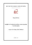Tóm tắt luận văn Thạc sỹ kỹ thuật: Nghiên cứu hệ mật đường cong elliptic và ứng dụng