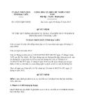 Quyết định 18/2013/QĐ-UBND tỉnh Bạc Liêu