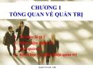 Bài giảng Quản trị học: Chương 1 - Phạm Văn Nam
