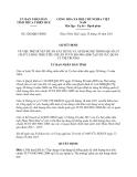 Quyết định 2205/QĐ-UBND năm 2013