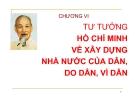 Bài giảng Tư tưởng Hồ Chí Minh: Chương 6 - ĐH Kinh tế