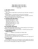 Giáo án Ngữ văn 12 tuần 5: Trả bài viết số 1 và ra đề số 2