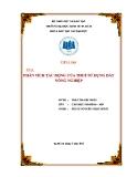 Tiểu luận: Phân tích tác động của thuế sử dụng đất nông nghiệp