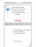 Tiểu luận: Thực trạng và giải pháp phát triển thị trường quyền chọn ngoại tệ Việt Nam