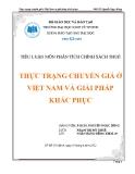Tiểu luận: Thực trạng chuyển giá ở Việt Nam và giải pháp khắc phục