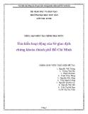 Tiểu luận:  Tìm hiểu hoạt động của Sở giao dịch chứng khoán thành phố Hồ Chí Minh