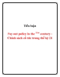 Tiểu luận:  Pay out policy in the century - Chính sách cổ tức trong thế kỷ 21