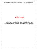 Tiểu luận: Thực trạng và giải pháp vấn đề lạm thu, thất thu thuế thu nhập cá nhân ở Việt Nam