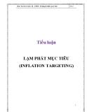 Tiểu luận: Lạm phát mục tiêu (inflation targeting)