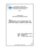 Tiểu luận: Ảnh hưởng của lạm phát đối với thuế thu nhập cá nhân ở Việt Nam