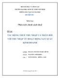 Tiểu luận: Tác động thuế thu nhập cá nhân đối với thu nhập từ hoạt động sản xuất kinh doanh