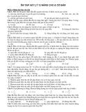 Ôn tập Vật Lý 12 nâng cao & cơ bản