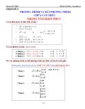 Chuyên đề luyện thi ĐH: Phương trình và bất phương trình chứa căn thức - Huỳnh Chí Hào