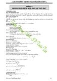 Chuyên đề luyện thi vào lớp 10 môn Toán phần số học - Trần Trung Chính (tt)