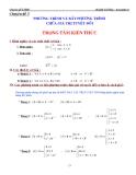 Chuyên đề luyện thi ĐH 3: Phương trình và bất phương trình chứa giá trị tuyệt đối - Huỳnh Chí Hào