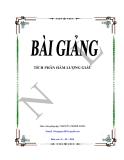 Bài giảng: Tích phân hàm lượng giác - Nguyễn Thành Long