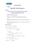 Ôn tập Toán Đại số tổ hợp chương 5: Nhị thức Newton (phần 2)