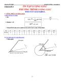 Chuyên đề luyện thi ĐH: Ôn tập lượng giác phương trình lượng giác - Huỳnh Chí Hào