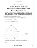 Chuyên đề luyện thi đại học: Phương pháp giải các bài tập hình không gian trong kỳ thi tuyển sinh ĐH -  Nguyễn Trung Kiên