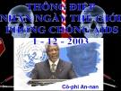 Bài giảng Ngữ văn 12 tuần 6 bài: Thông điệp nhân ngày thế giới phòng chống AIDS