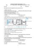 Đề thi môn Bảo hiểm trong kinh doanh - ĐH Kinh tế