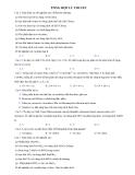 Tổng hợp lý thuyết môn Hóa 12