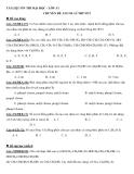 Tài liệu ôn thi ĐH chuyên đề ancol lý thuyết