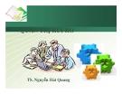 Bài giảng Quản trị rủi ro - TS. Nguyễn Hải Quang